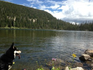 Audra Ogilvy and Profit at Crater Lakes in Colorado