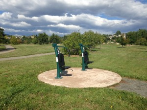Outdoor Exercise Equipment at the Fitness Circuit at the Louisville CO arboretum by the rec center