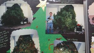 Jeff single-handedly got this ginormous Christmas tree inside all by himself.