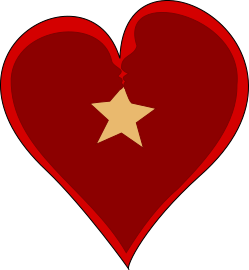 Audra Ogilvy and Patrick Starr with a star inside a heart