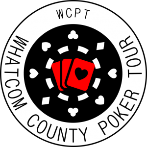 Whatcom County Poker Tour WCPT logo poker chip and cards